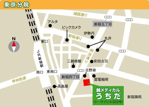 東京分院マップ